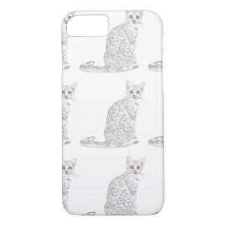 Acuarela del gato de tigre funda iPhone 7