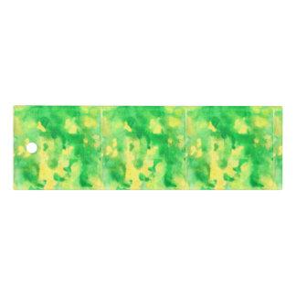 Acuarela del verde amarillo regla de 6 pulgadas
