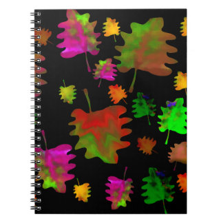 Acuarela divertida de las hojas cuaderno