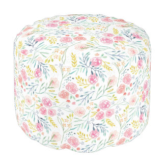 Acuarela dulce floral puf
