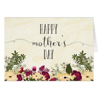 Acuarela elegante de la tarjeta del día de madre