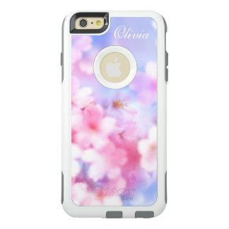 Acuarela elegante de las flores de cerezo rosadas funda otterbox para iPhone 6/6s plus