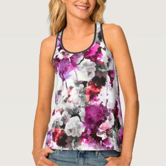 Acuarela floral, camisetas sin mangas de Racerback