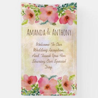 Acuarela floral del boda elegante
