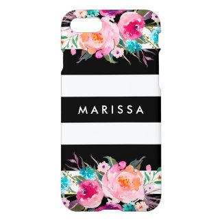 Acuarela floral del rosa fresco elegante de la funda para iPhone 7