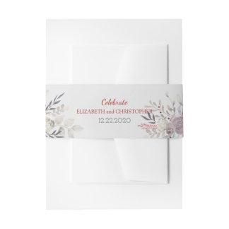 Acuarela floral del vintage botánica cintas para invitaciones