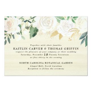 Acuarela floral + Invitación del boda del acento