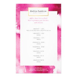 Acuarela fresca de las rosas fuertes de la LISTA Flyer