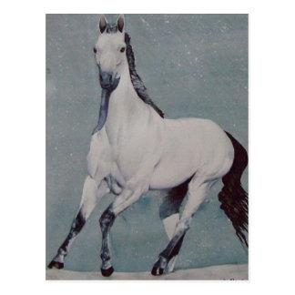 Acuarela galopante del caballo postal