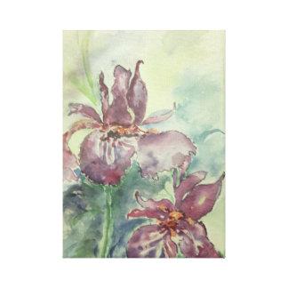 Acuarela original de flores lienzo