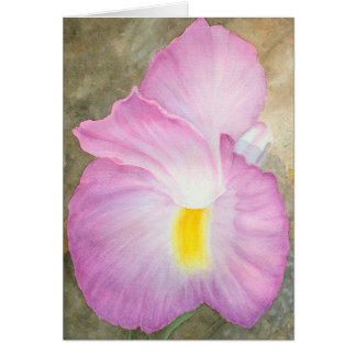 Acuarela original de una flor rara tarjeta