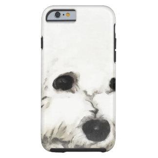 Acuarela principal artística de Bichon Funda Para iPhone 6 Tough