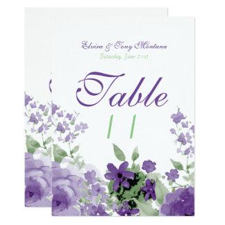 Acuarela púrpura subió, tarjetas de la felpa de la