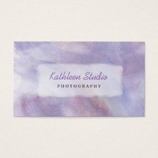 Acuarela púrpura tarjeta de visita