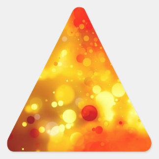 Acuarela roja del oro elegante y amarilla de lujo pegatina triangular