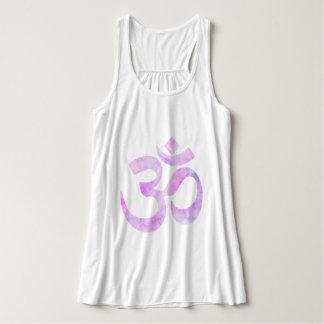 Acuarela rosada OM de la lavanda Camiseta Con Tirantes