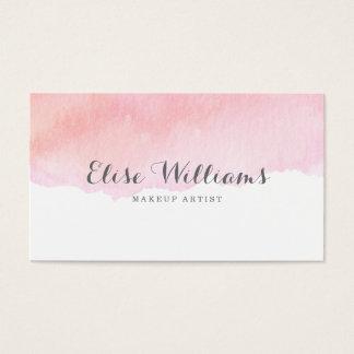 Acuarela rosada tarjeta de visita