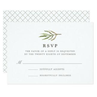 Acuarela RSVP que se casa botánico del verdor el | Invitación 8,9 X 12,7 Cm