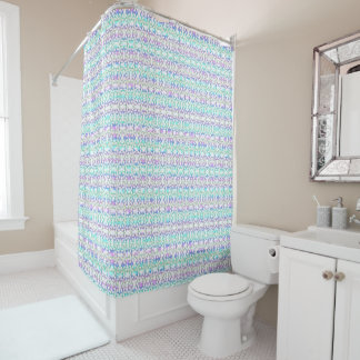 Acuarela suave de la púrpura de la turquesa del cortina de baño