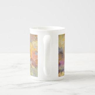 Acuarela subió verano taza de porcelana