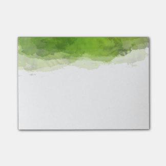 Acuarela verde notas post-it®