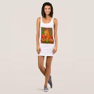 Acuarela Womanw de Nouveau del arte/vestido del Vestido Sin Mangas
