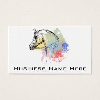 Acuarelas de la cabeza de caballo tarjeta de visita