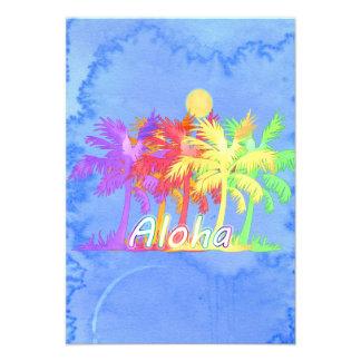 Acuarelas de la palmera de la hawaiana de Hawaiin Anuncios
