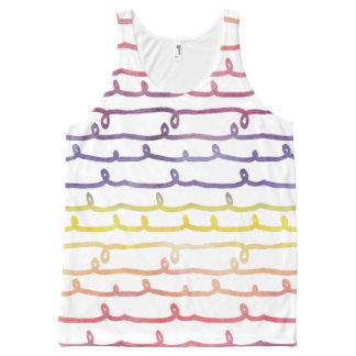 Acuarelas hermosas del extracto de la primavera camiseta de tirantes con estampado integral