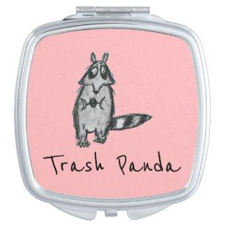 """Acuerdo divertido del mapache de la panda de la Espejo Maquillaje"