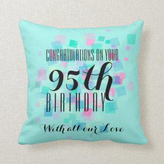 Acuñe la almohada de encargo 3 del 95.o cumpleaños