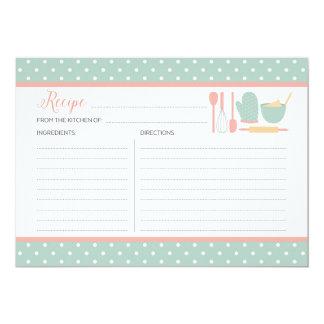 Acuñe y ruborícese tarjeta de la receta de la invitación 12,7 x 17,8 cm