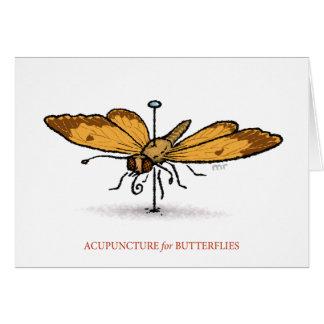 Acupuntura para la tarjeta de las mariposas
