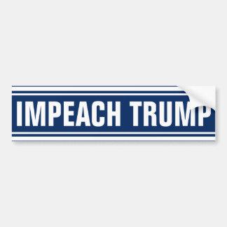 Acuse al presidente anti de Donald Trump 2016 Pegatina Para Coche