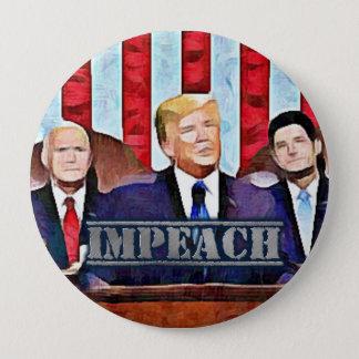 Acuse el botón de presidente Donald Trump