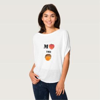 Acuse el top del círculo de Flowy del naranja