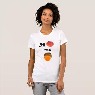 Camiseta Acuse la camiseta anaranjada del cuello barco
