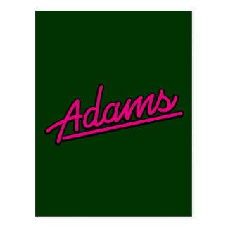 Adams en magenta postal
