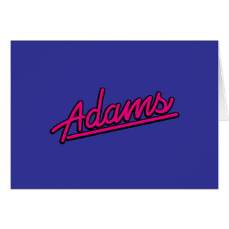 Adams en magenta felicitación