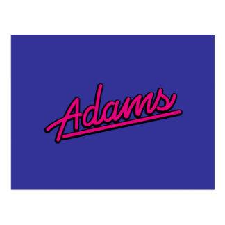 Adams en magenta postales