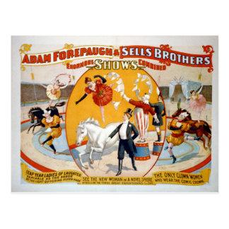 Adán Forepaugh y hermanos de las ventas Postal