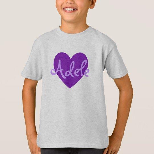 Adela en púrpura camiseta