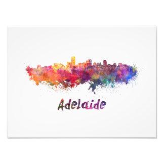 Adelaide skyline in watercolor foto