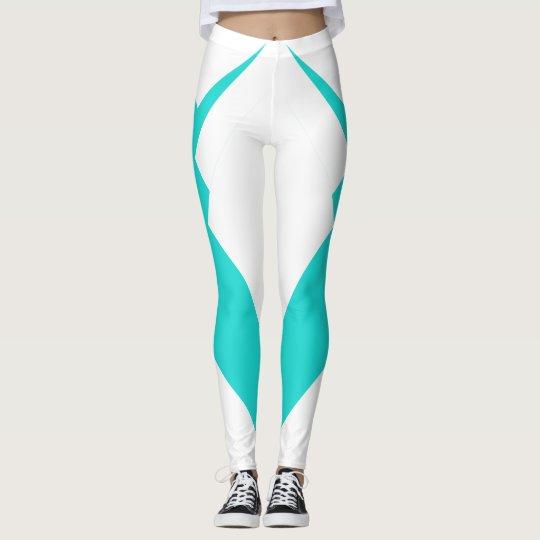 Adelgazar la moda deportiva de la turquesa de los leggings
