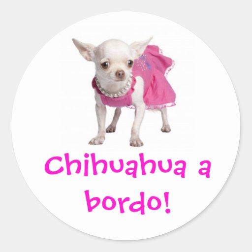 ¡Adesivo - chihuahua un bordo! Pegatina