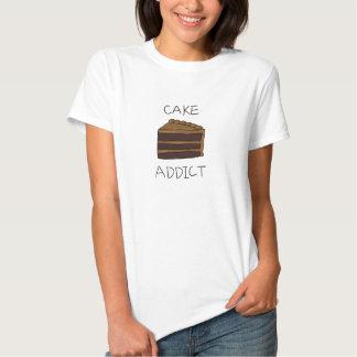 Adicto a la torta camisetas