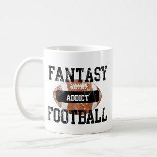 Adicto al fútbol de la fantasía taza de café