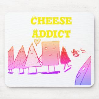Adicto al queso alfombrilla de ratón