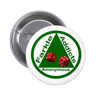 Adictos a Farkle anónimos Chapa Redonda 5 Cm