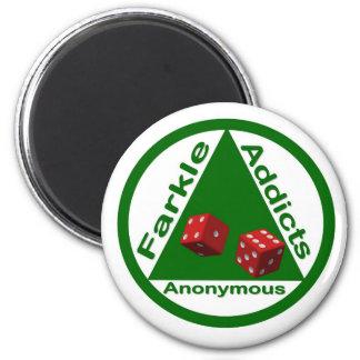 Adictos a Farkle anónimos Imán Redondo 5 Cm